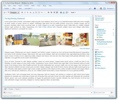 برنامج Windows Live Writer