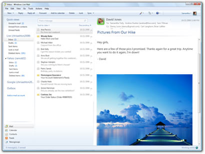Windows Live Mail full screenshot